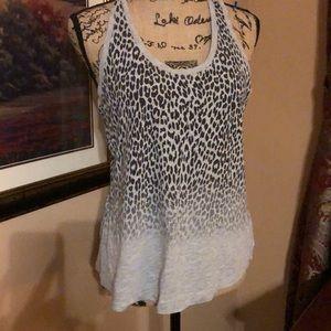 Fabletics leopard print top, size large